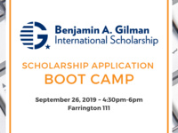 Gilman International Scholarship Application Boot Camp
