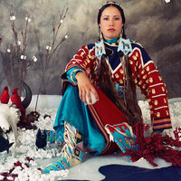 "Image: Wendy Red Star, ""Winter"" from ""Four Seasons"", Archival pigment print, 35.5 x 37 inches each, 2006."