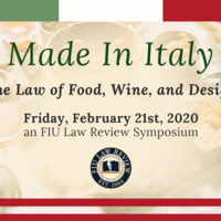 FIU Law Review Symposium - Made in Italy: The Law of Food, Wine, and Design