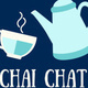 "Teapot and cup with the text ""Chai Chat"""