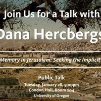 Public Talk by Dana Hercbergs, PhD