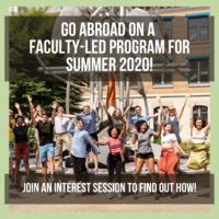 Faculty-led Application Deadline is Feb. 1.