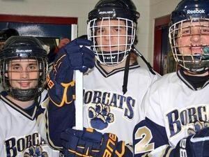 Bobcat Hockey Players