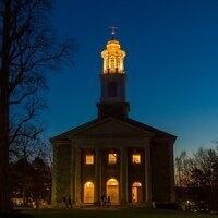 Colgate Memorial Chapel at night