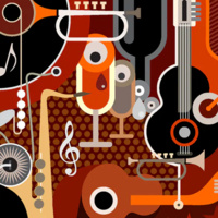 Abstract graphic depicting jazz music