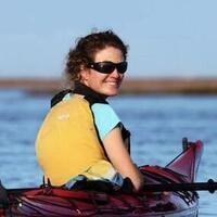 Laura Early, Satilla Riverkeeper, in a kayak on the river. Photo: Satilla Riverkeeper