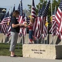 The Waterloo Field of Honor Flag Display