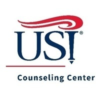 """USI logo with the text """"Counseling Center"""""""