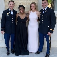 Guests at the military ball