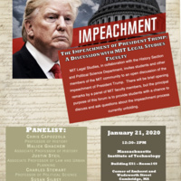 The Impeachment of President Trump: A Discussion with MIT Legal Studies Faculty
