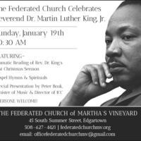 Federated Church Celebrates Rev Martin Luther King, Jr