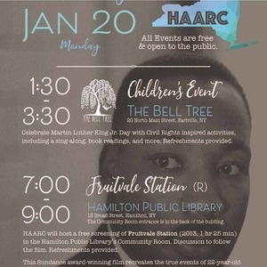MLK Jr. Day - Sponsored by the Upstate Institute and Writing and Rhetoric
