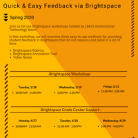 Brightspace Workshop Flyer