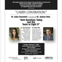 """Casden Conversations: """"Anti-Semitism Today and the Tools to Fight It"""" (USC Casden)"""
