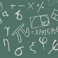 chalkboard with math symbols