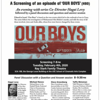 A Screening of an episode of 'OUR BOYS' (HBO) with Co-Director Hagai Levy (USC Casden, USC SCA)