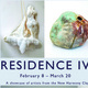 "Photos of clay projects with information about the ""Residence IV"" exhibit"