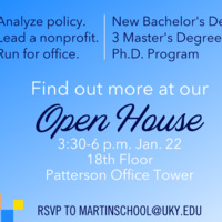 Martin School of Public Policy and Administration Open House
