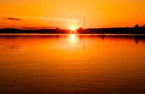 A picture of a sunset.