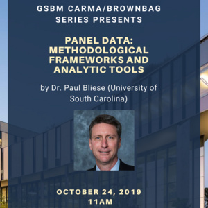 Panel Data: Methodological Framework and Analytic Tools