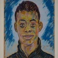 Beauford Delaney (Knoxville 1901-1979 Paris) Portrait of James Baldwin, 1944 Pastel on paper 24 x 18 3/4 inches, © Estate of Beauford Delaney, by permission of Derek L. Spratley, Esquire, Court Appointed Administrator