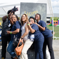 Alumni smile for the camera during Alumni Weekend 2018