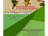 Institute for African Development Special Topic Seminar Series:  Politicized Finance in the Black Americas