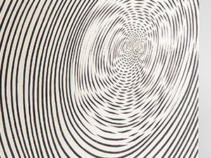 Jesús Rafael Soto (Venezuelan, 1923–2005), Spirale (Spiral), 1955/1959. Screen printing on Plexiglas and painted plywood, 19 11/16 x 19 11/16 x 9 13/16 in. (50 x 50 x 25 cm). Published by Edition MAT, Paris. Kern Collection, Großmaischeid, Germany. © 2019 Artists Rights Society (ARS), New York / ADAGP, Paris.