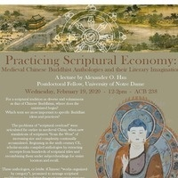 Practicing Scriptural Economy: Medieval Chinese Buddhist Anthologies and their Literary Imagination