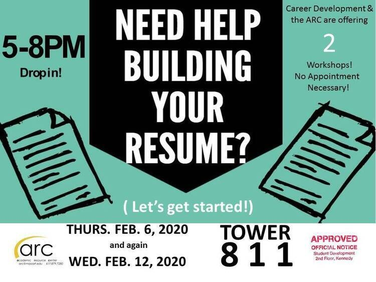 Resume Building Workshop Massachusetts College Of Art And Design