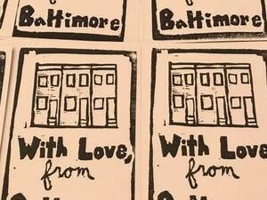 Valentine's Printmaking Workshop, With Love from Baltimore