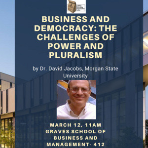 Business and Democracy: the Challenges of Power and Pluralism