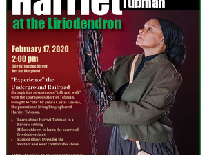 Meet Harriet Tubman at the historic Liriodendron Mansion, and learn about the Underground Railroad in this interactive event.