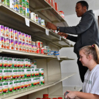 Volunteering at the Jamil Niner Food Pantry