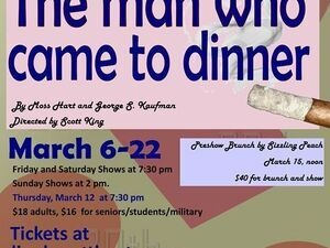 The man who came to dinner flyer