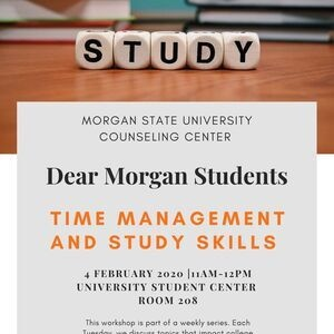 Dear Morgan Students Time Management and Study Skills