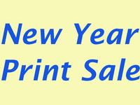 New Year Print Sale