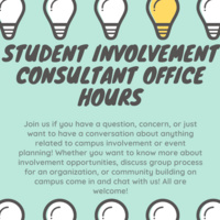 Student Involvment Consultant Office Hours