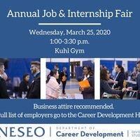 Annual Job & Internship Fair-CANCELED
