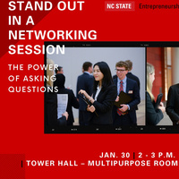 A poster promoting the networking session.
