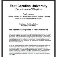 Physics Colloquium on January 24th!- Professor Christine Helms