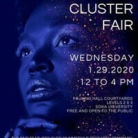 Learning Cluster Fair will be held on 1/29/2020 from 12 - 4 pm in Pauling Courtyards.