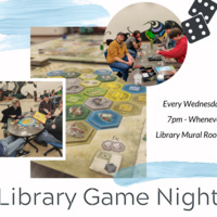 Weekly game night in the library