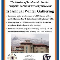 Leadership and Community Engagement:  1st Annual Winter Gathering