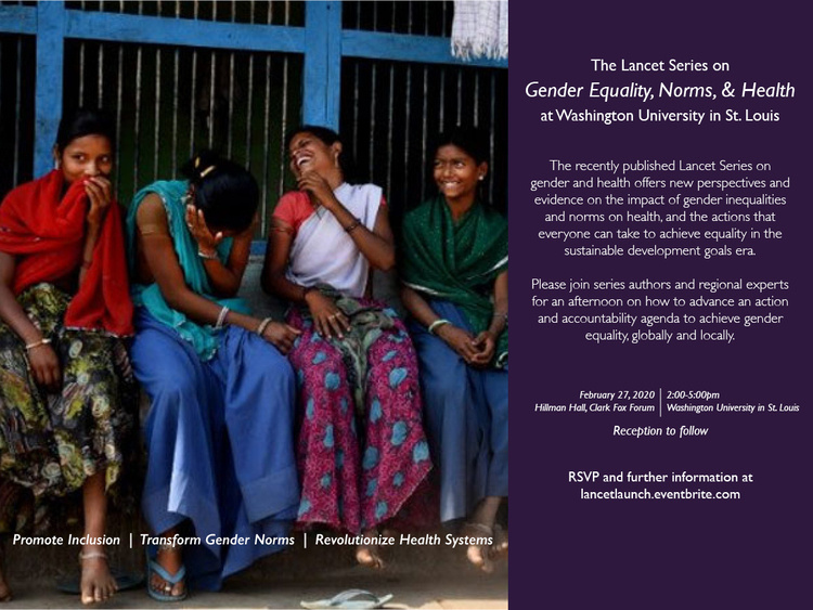 Gender Equality, Norms and Health Lancet Series Launch