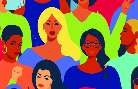 A picture of women of color.