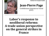 Labor's response to neoliberal reforms: A trade union perspective on the general strikes in France