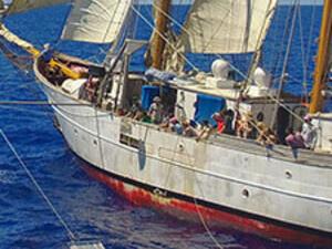 a SEA Semester ship sailing on the sea.