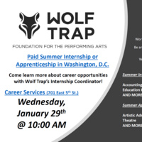 Wolf Trap Information Sessions