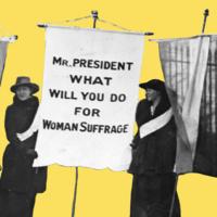 Goucher College Suffrage Marker Dedication